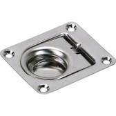 Pressed stainless steel anti rattle pull ring
