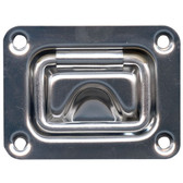 Pressed stainless steel large handle pull ring
