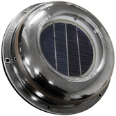 Stainless steel solar powered dome ventilator