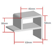 PVC Pontoon Edge - Square (per metre)
