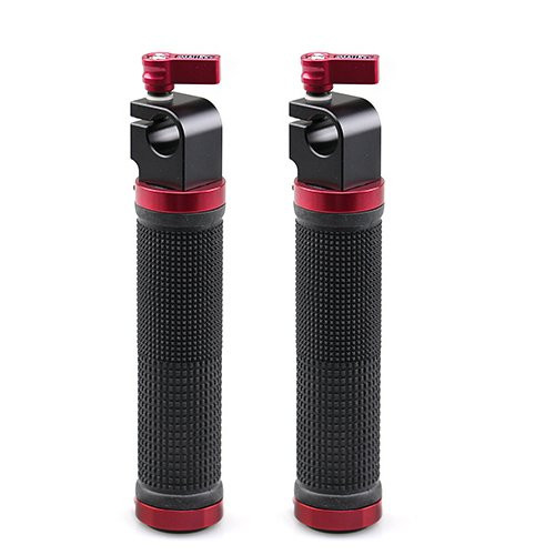 SMALLRIG Red Basic Handle V2 with 15mm Rod Clamp(2pcs Pack)1070