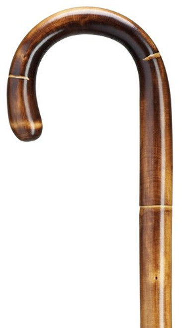 Extra Tall Crook Handle-Stepped & Scorched