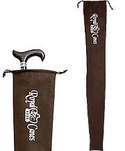 Brown Cloth Cane Bag With Draw String