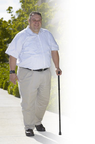 Bariatric Aluminum Adjustable Folding Cane Supports Up To 500 Lbs