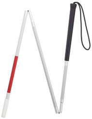 "45"" Folding Walking Cane For The Visually Impaired"
