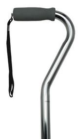 Adjustable Offset Chrome Walking Cane