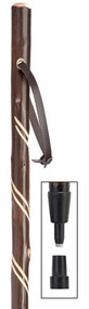 "50"" Double Spiral Chestnut Wood Hiking Staff"