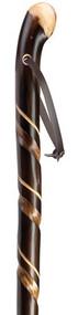 Natural Chestnut Spiral Knob Walking Stick