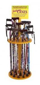 18 Walking Cane Display Rack