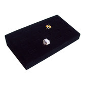 Ring Display Tray 18 Slot Ramp Black Velvet