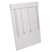 Multi Chain Necklace Easel Display Panel White Leatherette