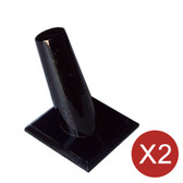 2 Ring Display Cone Stand Square Base Black