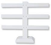 Earring T-Bar(12 pairs) Display Stand White Leather
