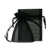 100 Organza Jewelry Bag Gift Pouch Black 4X6""