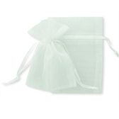 100 Organza Jewelry Bag Gift Pouch White 4X6""