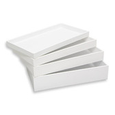 """Stackable Jewelry Display Utility Tray Plastic White 1""""H"""