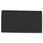 Flocked Tray Liner 7-Section Insert Black