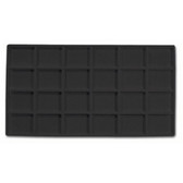 Flocked Tray Liner 24-Compartment Insert Black