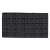 Flocked Tray Liner 50-Compartment Insert Black