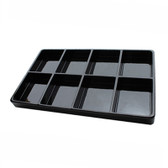 Stackable Display 8 Compartment Tray Black