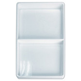 Stackable Display 2 Compartment Tray White