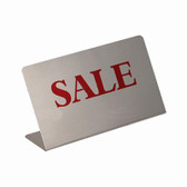 "Metal Showcase Sign ""Sale"""