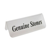 "Acrylic Frosted Sign ""Geniune Stones"""