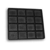 Half Size Tray Liner 16-Compartment Insert Black