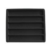 Half Size Tray Liner 5-Section Insert Black