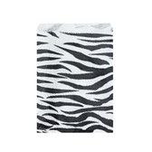 "Paper Jewelry Gift Bag 6x9"" Zebra (100)"