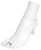 Anklet Toe Ring Foot Form Display White