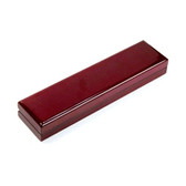 Rosewood Leather Bracelet Chain Jewelry Gift Box