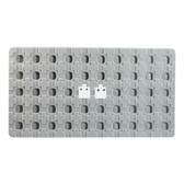 Flocked Tray Liner 50 Earring Puff Pad Insert Grey