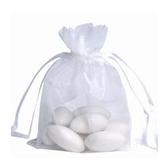 """100 Organza Jewelry Bag Gift Pouch White 6x8"""""""
