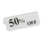 "Acrylic Frosted Sign ""50% OFF"""