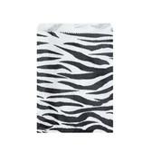 "Paper Jewelry Gift Bag 4x6"" Zebra (100)"