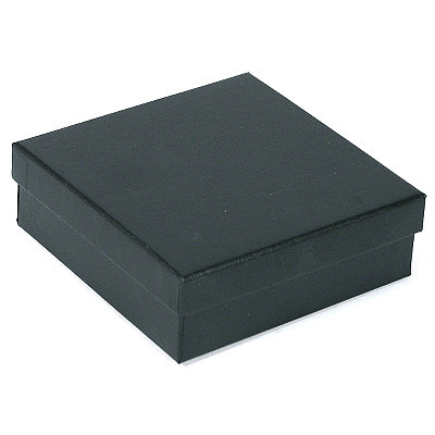 100 Jewelry Gift Box 3 1 2 X 3 1 2 X 1 Black Linen