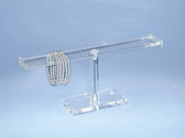"Acrylic Bracelet Bangle Display T-Bar Flat 5""H"
