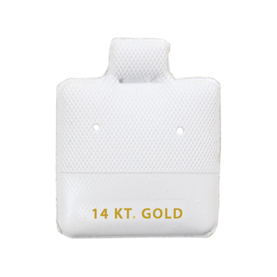 100 Puff Earring Pads 1 x 1 White ZAKKA CANADA