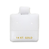 "100 Puff Earring Pads 1 x 1"" White 14KT GOLD"