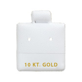 "100 Puff Earring Pads 1 x 1"" White 10KT GOLD"