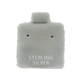 "100 Puff Earring Pads 1 x 1"" Grey  STERLING SILVER"