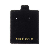 "100 Puff Earring Pads 1 1/2"" x 1 3/4"" Black 10KT GOLD"