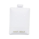 """100 Puff Earring Pads 1 1/2"""" x 2"""" White 14KT GOLD"""