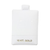 "100 Puff Earring Pads 1 1/2"" x 2"" White 10KT GOLD"