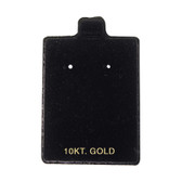 "100 Puff Earring Pads 1 1/2"" x 2"" Black 10KT GOLD"