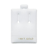 "100 Slot Puff Earring Pads 1 1/2"" x 2"" White 14KT GOLD"