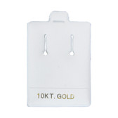"100 Slot Puff Earring Pads 1 1/2"" x 2"" White 10KT GOLD"