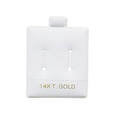 "100 Slot Puff Earring Pads 1 1/2"" x 1 3/4"" White 14KT GOLD"