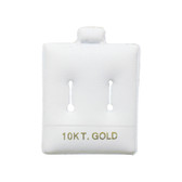 "100 Slot Puff Earring Pads 1 1/2"" x 1 3/4"" White 10KT GOLD"